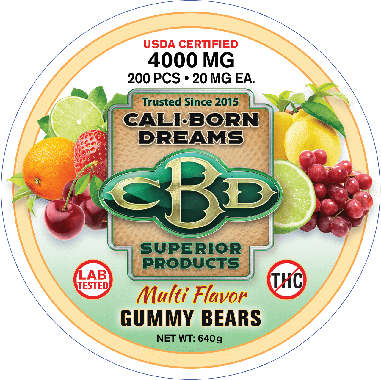 CBD Gummy bears 350mg, 650mg, 4000mg (with Melatonin)